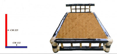 Eco-friendly Bamboo Double Bed(#864)-gallery-0