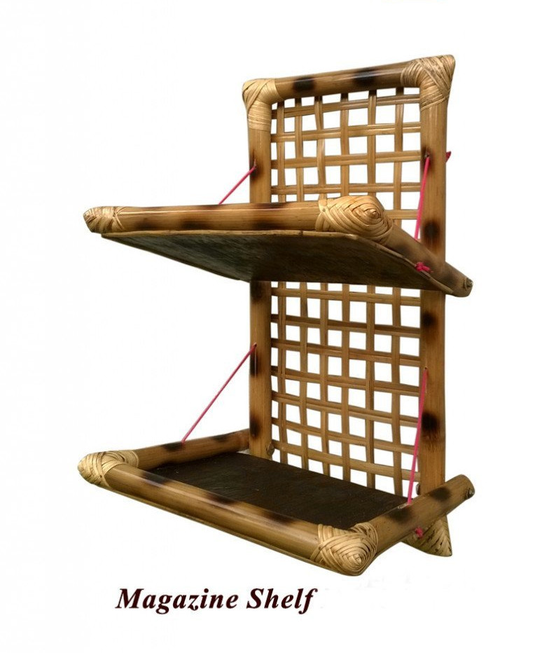 Bamboo Handcrafted Magazine Holder(#880)-gallery-0