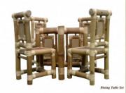 Bamboo 4 Seater Dining Table Set(#882) - Getkraft.com