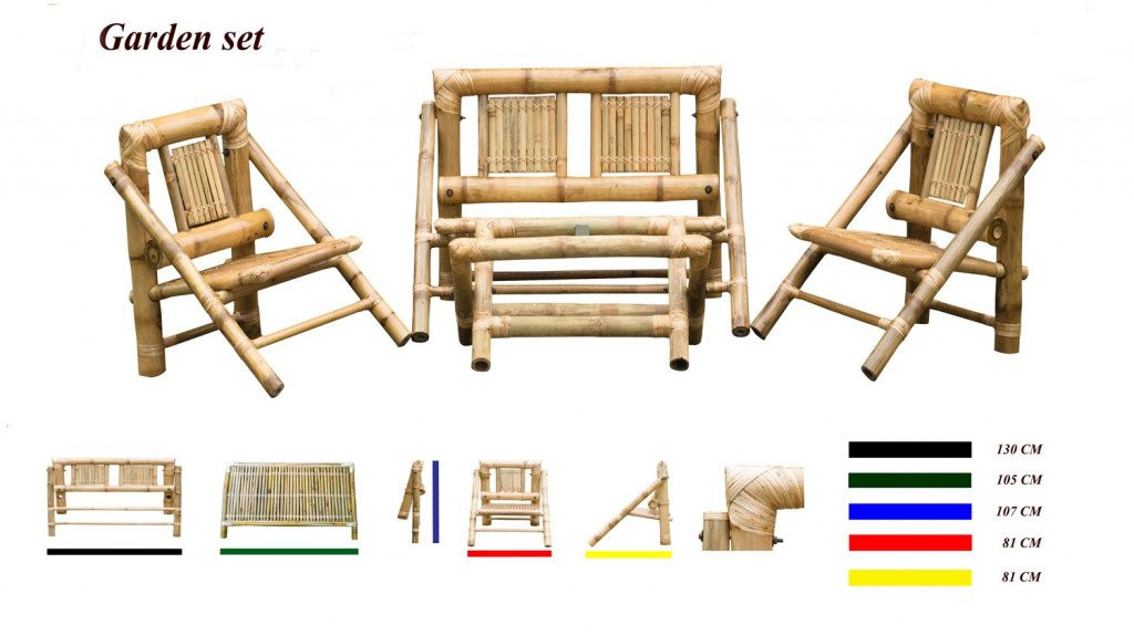 Bamboo Foldable Outdoor Chair Set(#885)-gallery-1