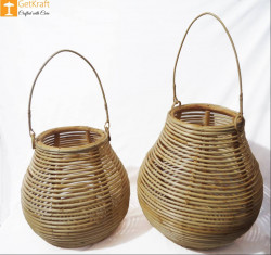 Cane Multipurpose Matka Basket(#889) - getkraft.com