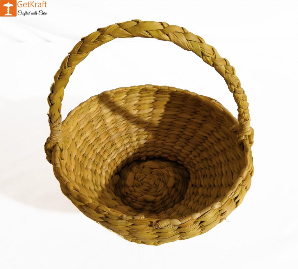 Kauna Handmade Small Basket 7x12 cm(#898)-gallery-1