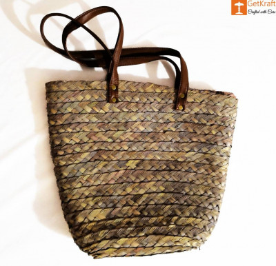 Stylish Handbag made of Palm Leaves(#899)-gallery-0