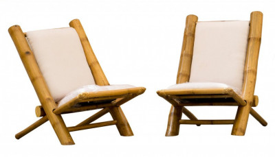 Outdoor Garden Lawn Backyard Bamboo Chair(#904)-gallery-0