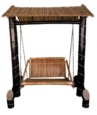 Bamboo Swinging Chair Jhoola(#905)-gallery-0