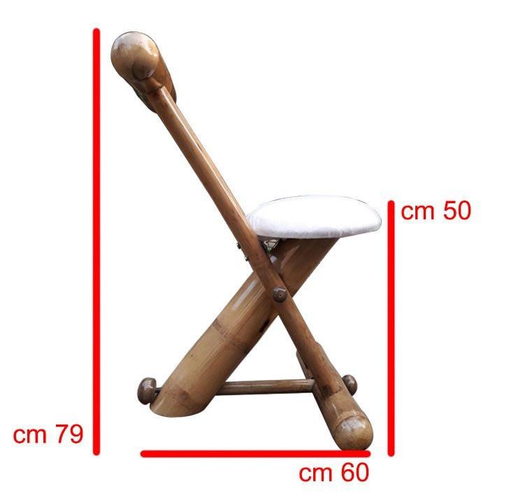 Stylish Outdoor Garden Lawn Backyard Bamboo Single Chair Furniture(#906)-gallery-2