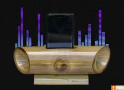 Bamboo Mobile Phone Holder cum Sound Amplifier(#908) - getkraft.com