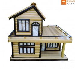 Bamboo Handicraft Table Lamp Home Decor House Shape(#913) - getkraft.com