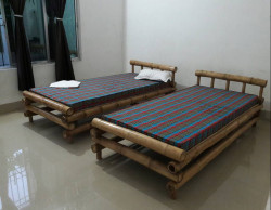 Attractive Bamboo Bed for Living Room(#915) - getkraft.com