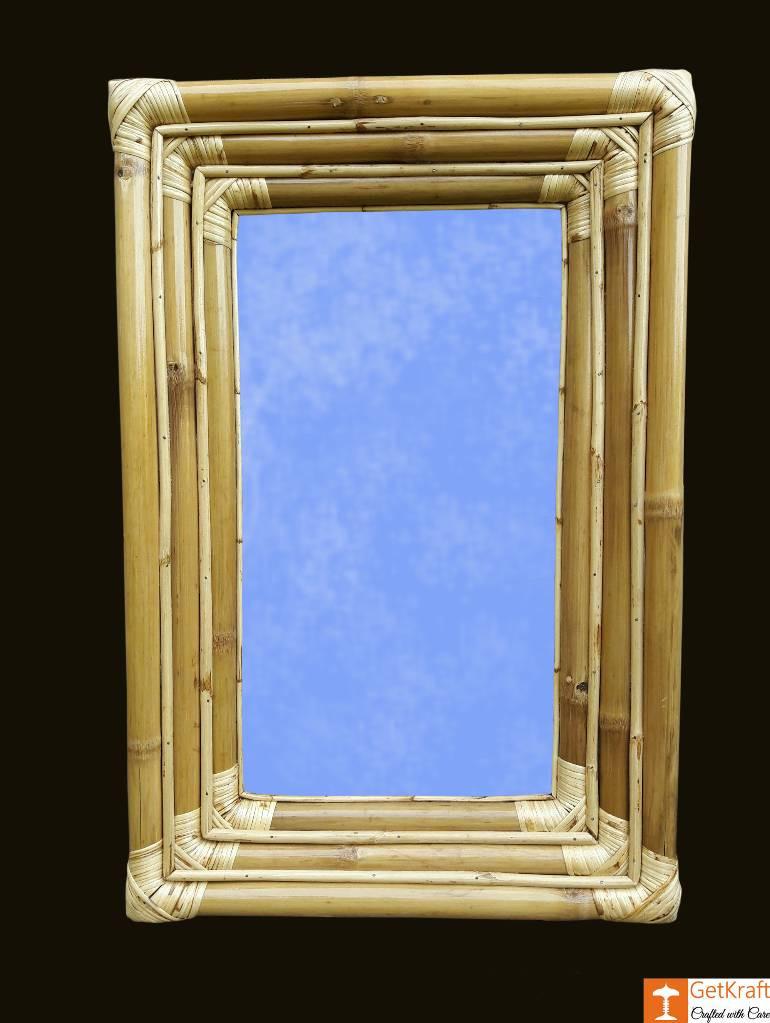 Simple Stylish Bamboo Mirror(#916)-gallery-0