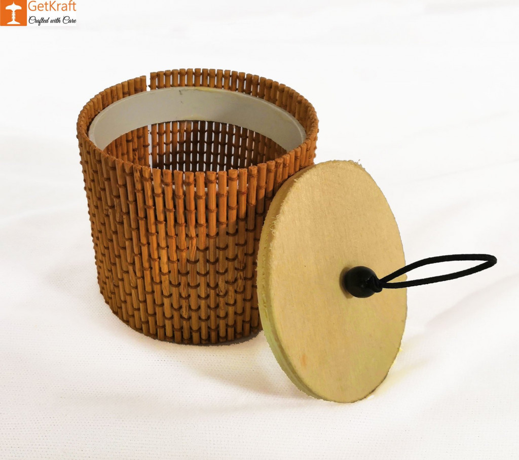 Bamboo Cylindrical Box(#927)-gallery-1