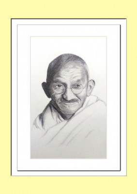 Mahatma Gandhi Pencil Sketch Poster(#931)-gallery-0