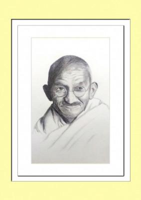 Mahatma Gandhi Pencil Sketch Poster(#932)-gallery-0
