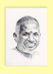 Pencil Sketch Single Person Poster without frame of Music Maestro Ilayaraja