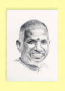 Pencil Sketch Single Person Poster without frame of Music Maestro Ilayaraja(#935) - getkraft.com