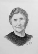 Pencil Sketch Single Person Poster without frame of Hellen Keller(#938) - getkraft.com