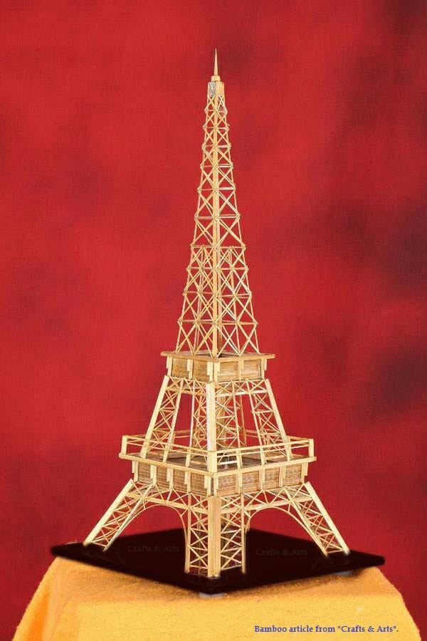 Bamboo Handcrafted Structure of Mini Eiffel Tower(#943)-gallery-0