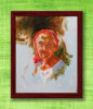 Framed Oil Painting of an Old Woman(#946) - getkraft.com