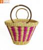 Natural Straw Multicolored Handbag(#948)-thumb-0