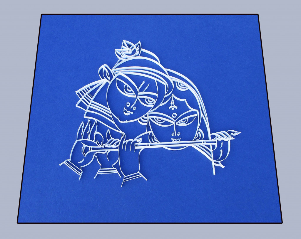 Radha Krishna Poster Handcrafted without Frame(#953)-gallery-0