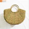 Natural Straw Mini Handmade U bag(#955)-thumb-0