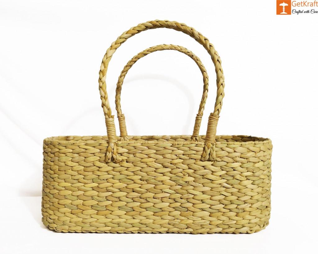 Kauna Water Reed Picnic cum Shopping Basket(#958)-gallery-0