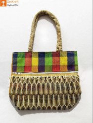 Jute Colored Handbag for Women(#959) - getkraft.com