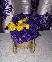 Jute Flower Cycle Vase