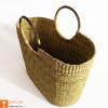 Natural Straw Large Picnic Bag(#979)-thumb-1