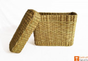Kauna Rectangular Basket with Lid(#980) - getkraft.com