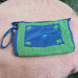 Blue and Green Pouch