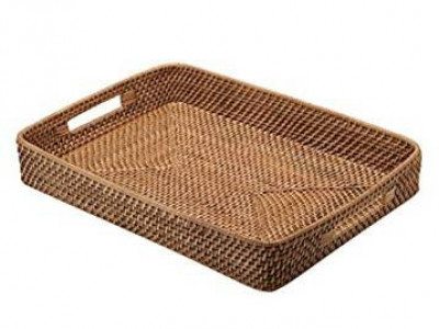 Rattan Serving Tray(#986)-gallery-0