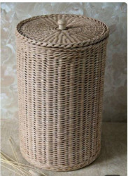 Rattan Cane Basket with Lid
