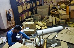 Employees working hard for timely delivery