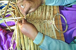 Natural Straw Basket Weaving