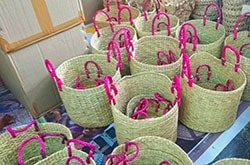 Natural straw baskets reached destination without damage and defects, excellent quality products