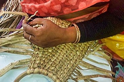 Natural Straw Basket Weaving by Women