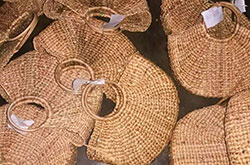 Water Hyacinth Natural Straw Bags Prepared by Women Entrepreneurs