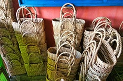 Kauna Natural Straw Baskets ready stacked together